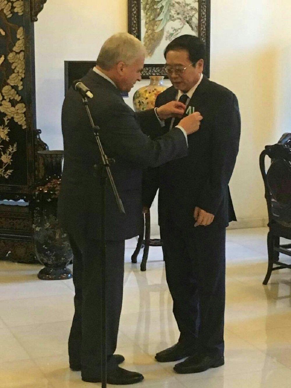 俄羅斯駐華大使安德烈·傑尼索夫與程國平