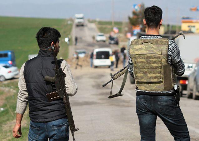 土耳其迪亞巴克爾的安全機構人員/資料圖片/