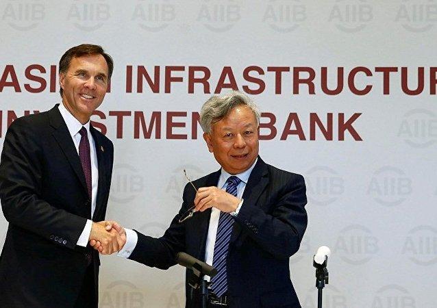 亚投行行长欢迎加拿大申请加入该行