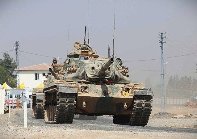 土耳其正在與伊拉克接壤地區部署坦克