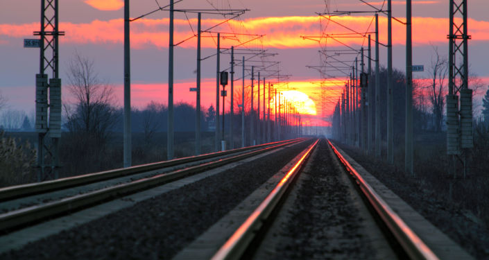 俄新西伯利亚州经蒙古至二连浩特的首趟货运班列发车