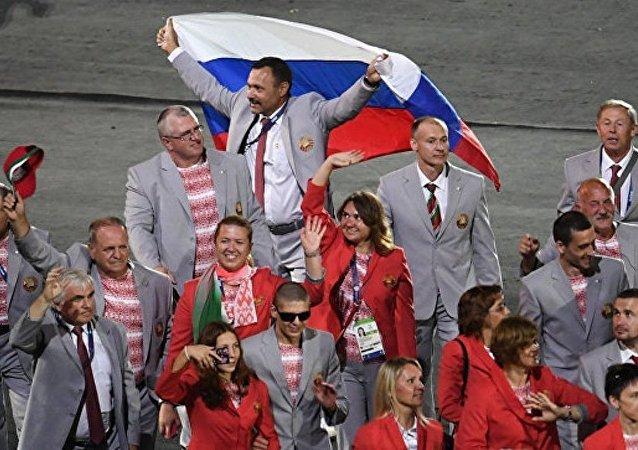 克宮:白俄羅斯殘奧運動員將俄國旗帶入裡約殘奧會開幕式值得稱贊
