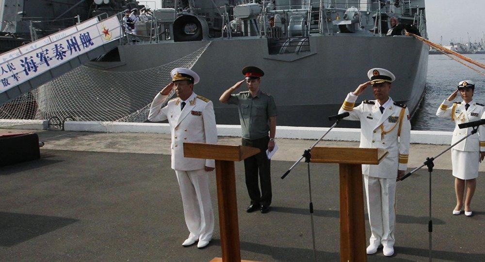 """俄中""""海上合作""""军事演习进入积极阶段"""