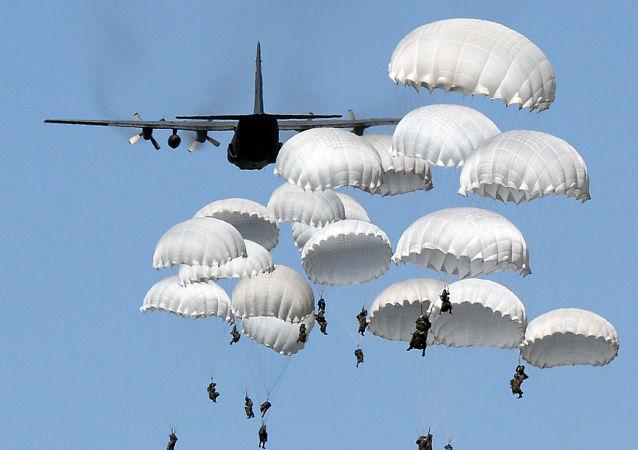 俄埃空降部隊首次完成聯合登陸