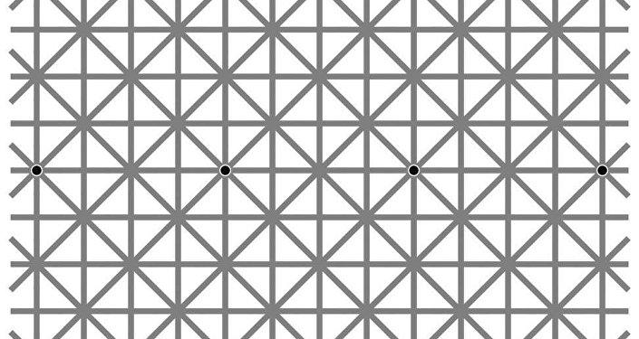 網絡用戶為看帶12個黑點的視錯覺圖像絞盡腦汁