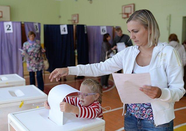 俄罗斯投票站