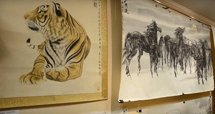 俄哈巴罗夫斯克举办俄中书画家作品展