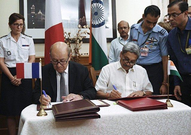 媒體:印法兩國簽署36架「陣風」殲擊機的供應合同