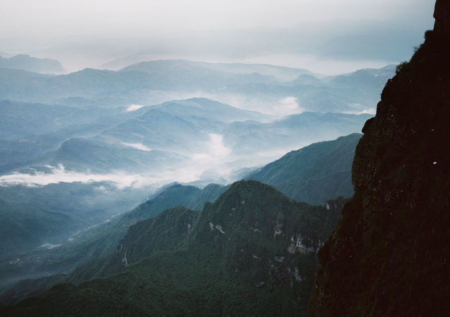 Пейзаж китайской провинции Сычуань