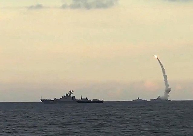俄艦艇在東海進行反恐演習