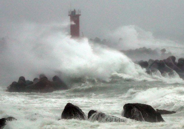 颱風「米娜」導致韓國6人死亡6人失蹤