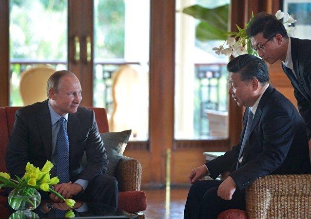 中國國家主席習近平會見俄羅斯總統普京(資料圖片)