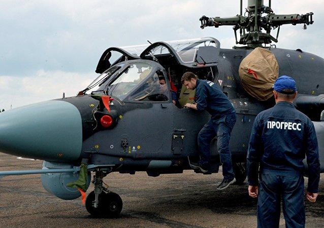 """埃及请俄罗斯为""""西北风""""级航母提供卡-52K直升机"""