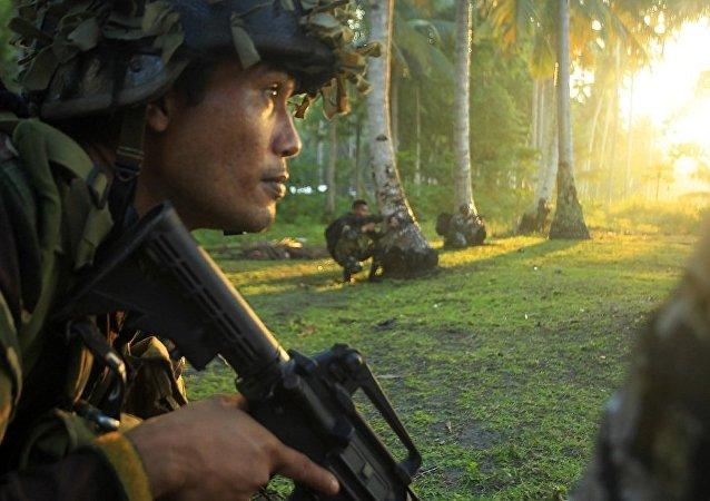 阿布沙耶夫恐怖組織一名頭目被菲律賓政府軍打死