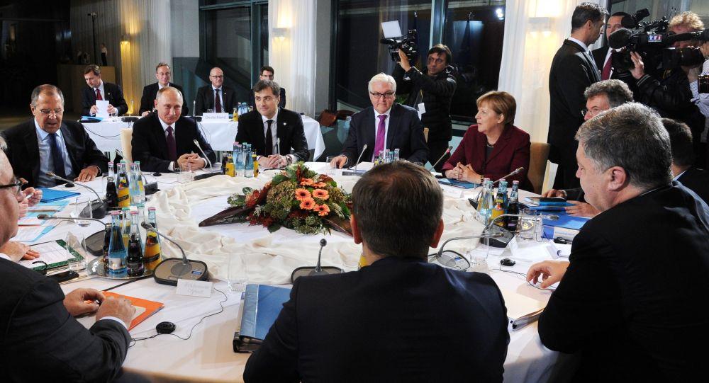 """俄外交部:""""诺曼底四国""""外长级会谈将于11日在柏林举行"""