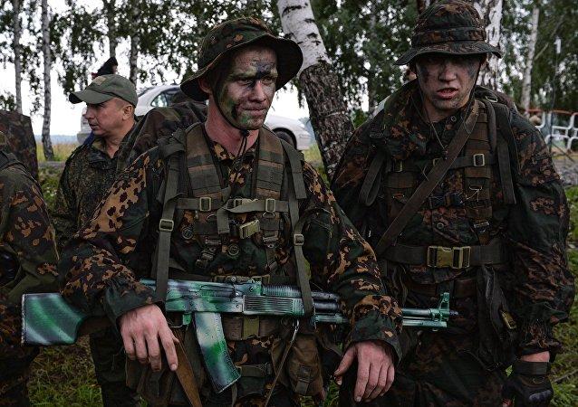 俄军事侦察兵(资料图片)