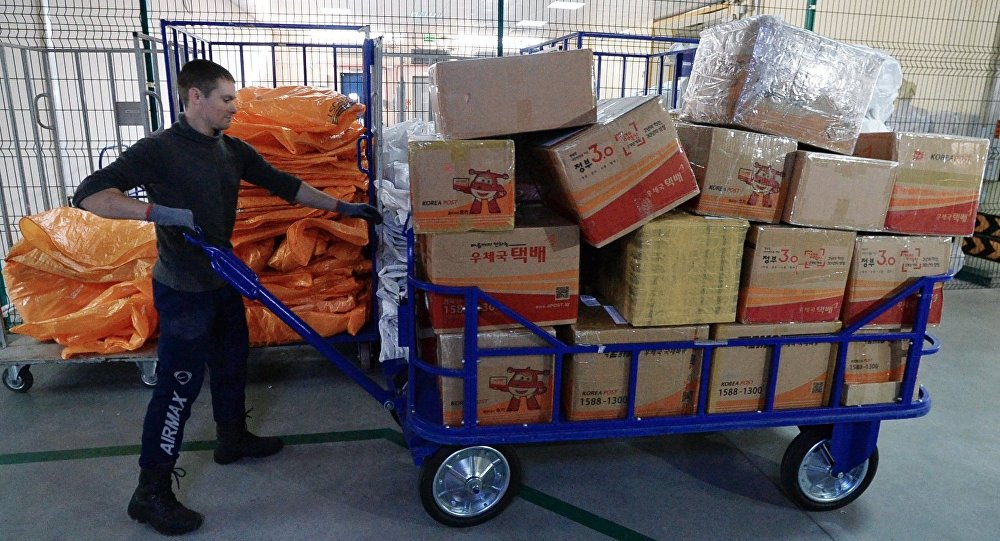 中国邮件占俄国际邮件总数的份额达到94%