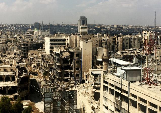 俄驻叙调解中心:俄军人将人道主义援助送抵叙北部地区