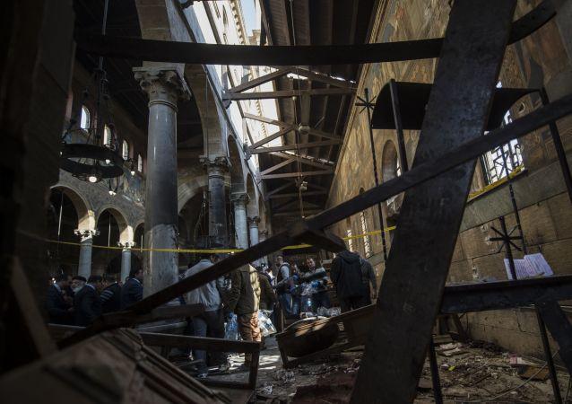 在开罗的一个教堂进行了恐怖袭击