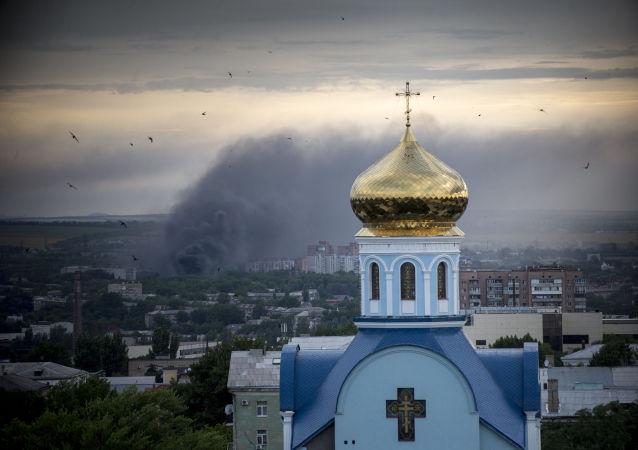 """梵蒂冈大使抵达""""卢甘斯克人民共和国""""为教民讲道"""