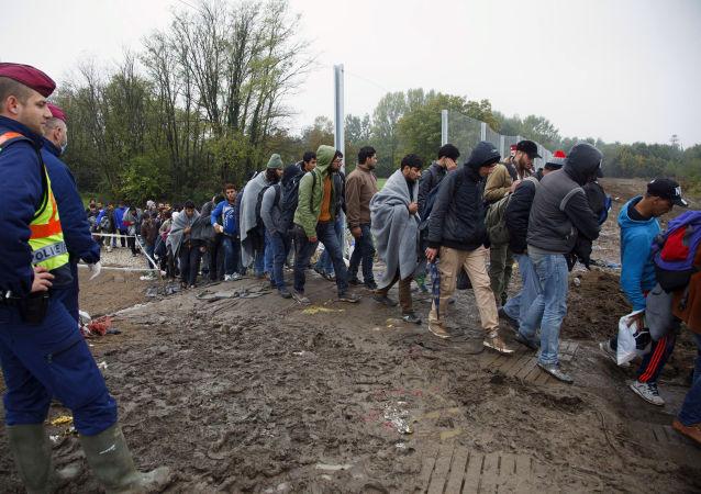 難民越出克羅地亞匈牙利界限