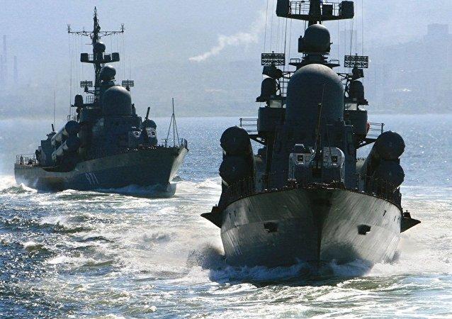 俄驻日大使馆:俄太平洋舰队舰艇参加俄日联合军事演习