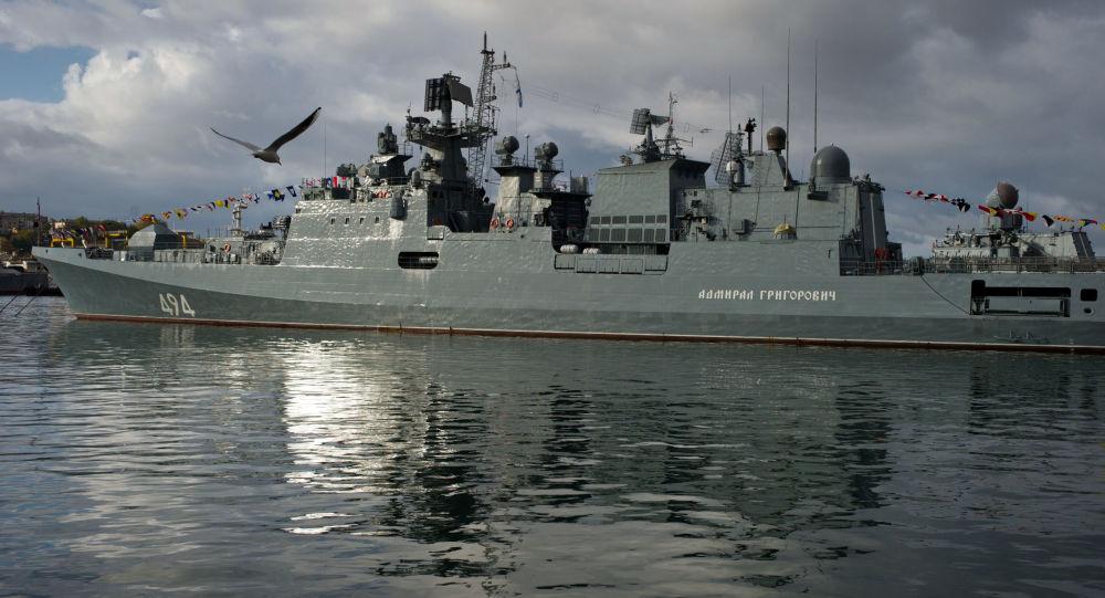 """俄黑海舰队:""""海军上将格里戈洛维奇""""号护卫舰恢复执行地中海编队任务"""