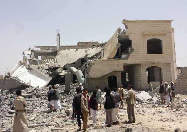 消息:也門中心8名鄉村居民在沙特阿拉伯轟炸中死亡
