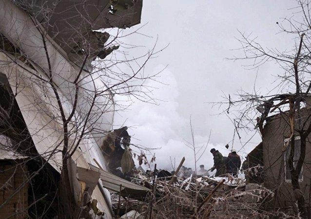 吉尔吉斯斯坦紧急情况部:飞机坠毁地所在的村庄内有一半以上建筑被损坏