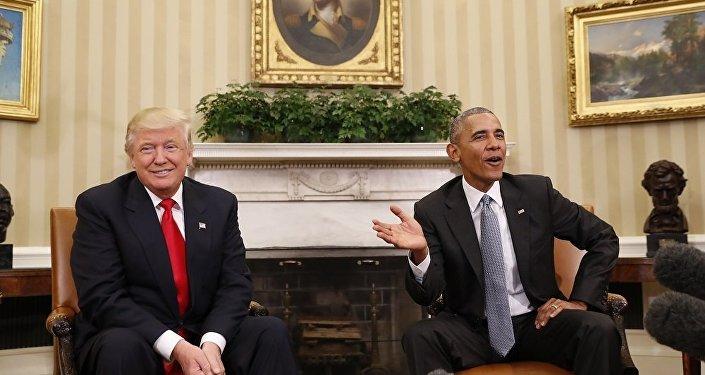 """奥巴马称特朗普""""靠美国人的恐惧和愤怒致富"""""""