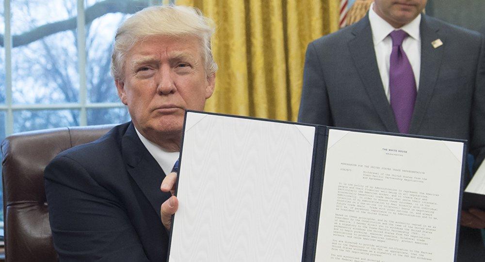 美總統顧問:退出TPP系美國現代史上最重要事件之一