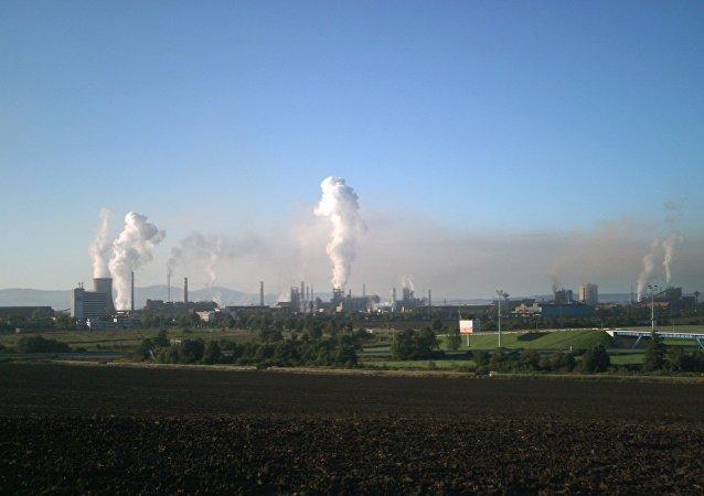 斯洛伐克东部的U.S.Steel Kosice钢铁厂