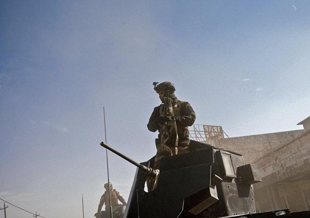 伊拉克联邦警察部队和平占领基尔库克省政府大楼