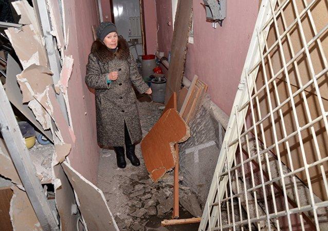 烏克蘭政府軍繼續開炮轟炸頓巴斯