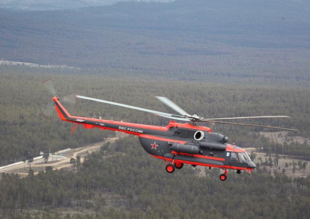 俄羅斯首架北極地帶直升機米-8