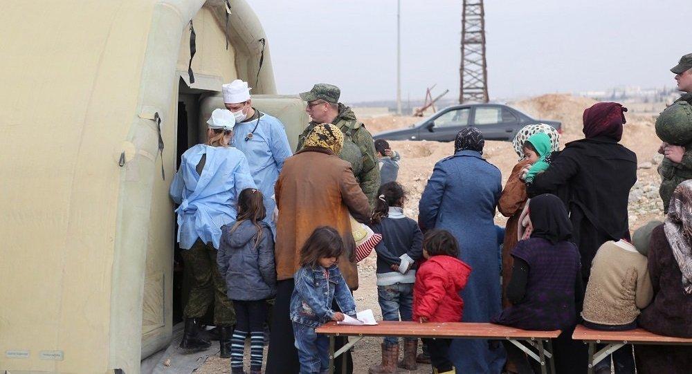 俄駐敘調解中心已開展人道行動699次 向當地居民發放救援物資1250噸