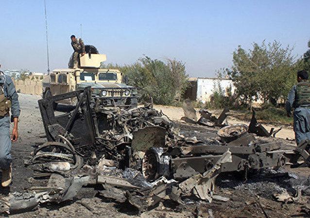 """阿富汗军方歼灭至少20名""""伊斯兰国""""武装分子"""