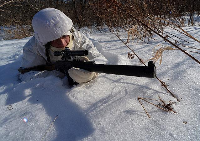 俄東部軍區為國際軍事比賽選拔狙擊手