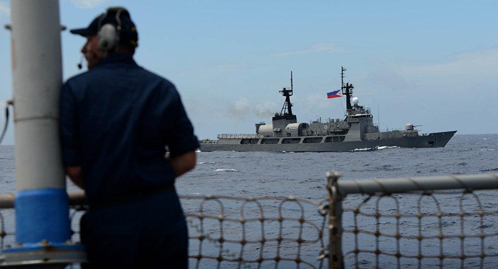 菲美海军演习在南海