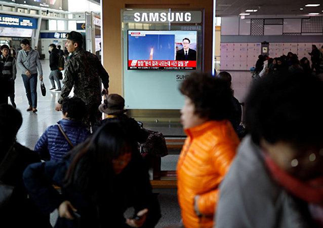 日本不排除对朝鲜发射导弹实施新的制裁