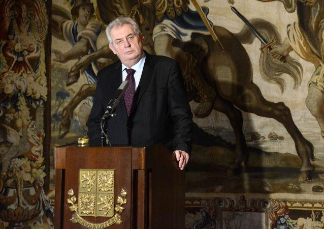 捷克总统米洛什•泽曼