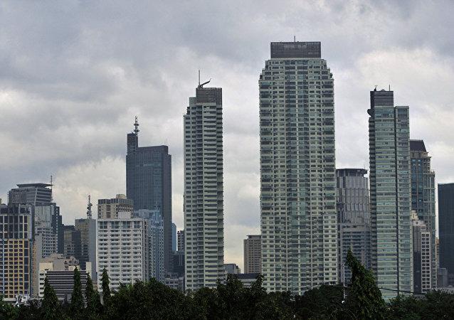 Makati financial district of Manila