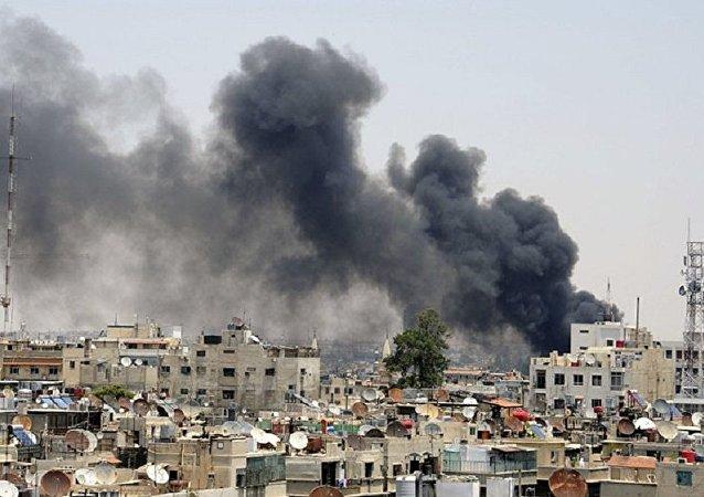 恐怖分子用迫击炮向大马士革中心开火