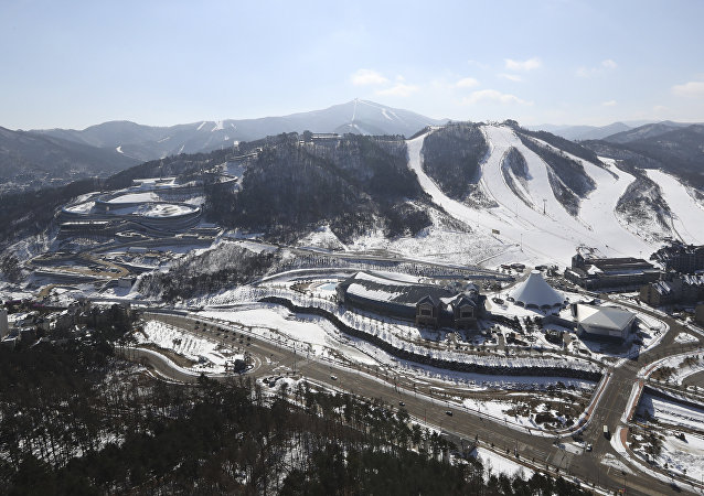 A general view of the Alpensia Sliding Centre of the 2018 Pyeongchang Winter Games