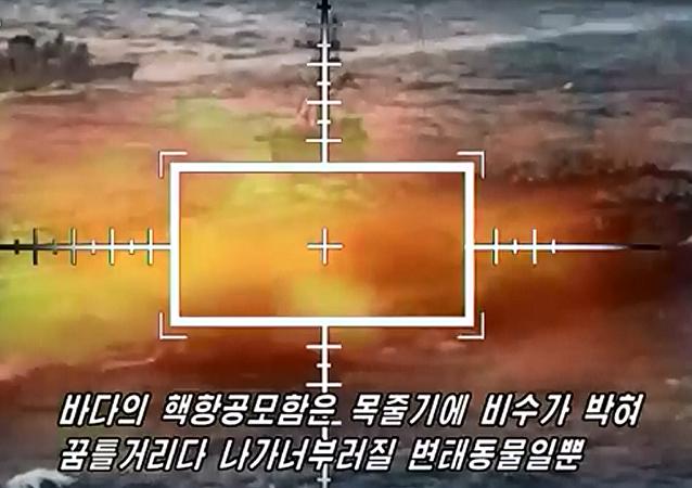 朝鲜拍摄关于消灭美国航空母舰的视频(视频)