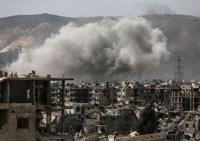 恐怖分子對大馬士革東部敘利亞軍隊控制區進行射擊