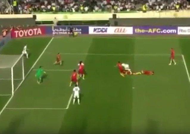 中國男足在2018年世預賽中客場輸給伊朗