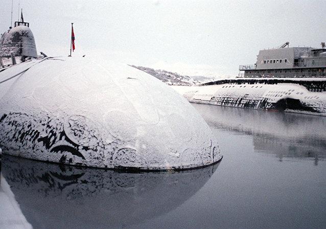 俄罗斯为勘探北极矿产研发首艘民用核潜艇  (资料图片)