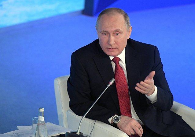 普京:西方呼吁释放集会被捕人士 给俄罗斯施压