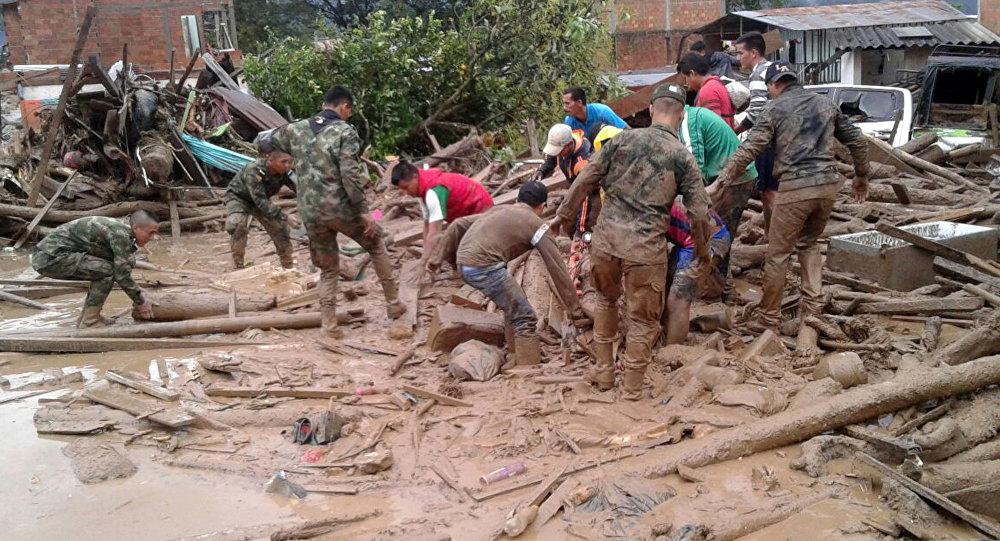 哥伦比亚总统称该国泥石流造成254人遇难